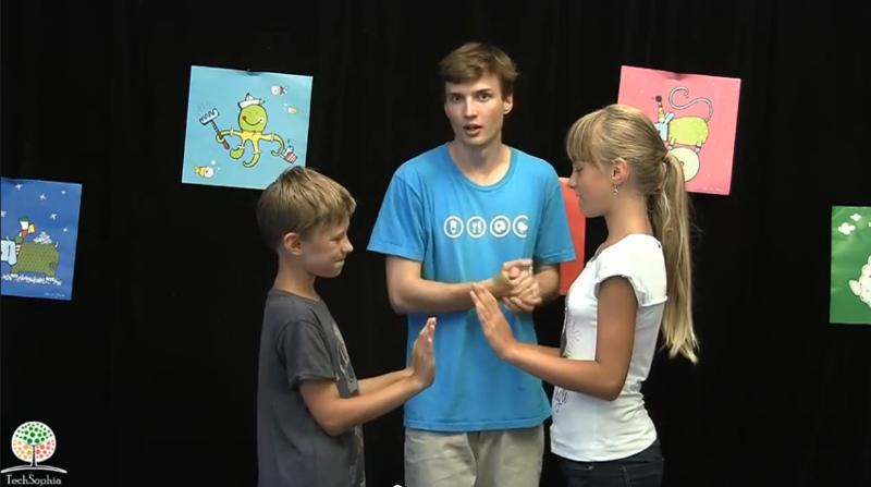 Hra Nárazníky :: Vysvětlení pohybovky pro 2 trénující balanc